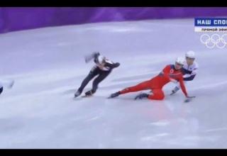 【速報】北朝鮮スピードスケーターさん、日本の選手に対しとんでもない妨害をしてしまう!!!!