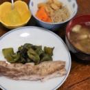 今日の晩飯「焼きメカジキ」