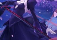 【FGO】夜桜と黒王様イラスト!! 夜桜が似合います!!