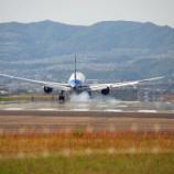 『大阪伊丹空港 千里川土手で迫力の飛行機離発着を撮影』の画像