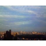 『夕日・雲・ビル・気温』の画像