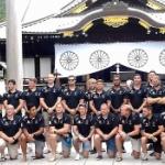 【国際防衛ラグビー】日本開催で来日中の英国代表チームが「靖国神社」を参拝!