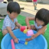 『初・水遊び』の画像