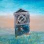 『荒野に打ち捨てられた柱時計』