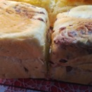 粒あんマーブルのサイコロパン。