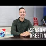 『SSLCスタッフよりクリスマスと年始のご挨拶』の画像