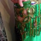 『ベリーダンス衣装 下着が気になる透かしデザインには裏地をプラス!』の画像