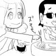 【THEALFEE】『夏の風物詩といったら?アルフィー坂崎さんは意外とくるくるする流しそうめんがお好き!』アルフィー漫画イラストマンガ