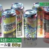 『【酒】ストロングゼロは貧困層向けの商品だった!?100円で手軽に酔えて、仕事の疲れやストレスが吹き飛ぶ魔法の飲み物として人気。』の画像