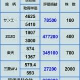 『【ZOZOほぼ急落前に戻る】2月7日株評価損益』の画像