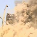 【動画】イラン、高層ビル火災!消防が消火活動中に建物が崩壊!30人死亡か [海外]