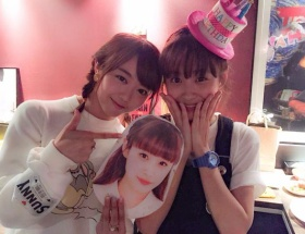 高橋愛のお誕生日パーティーにAKB峯岸みなみが参加