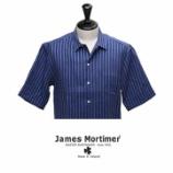 『入荷 | James Mortimer (ジェームズモルティマー) ストライプ 【Navy】』の画像