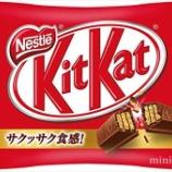 『【悲報】インフレがヤバすぎる!KitKat(キットカット)がついに正方形になる事態に。』の画像