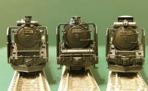 蒸気機関車の模型を並べてみると