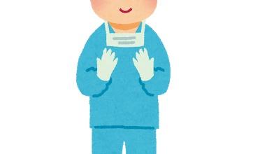 【画像】天才外科医さん、胸を触りまくってこの表情である