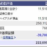 『週末(9月30日)の保有資産。2億2269万9768円』の画像
