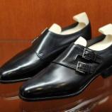 『旅たった靴。ジョンロブCHAPELのMUSEUM CALFブラックです。』の画像
