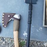 『多機能シャベルで薪が割れるか検証してきた【斧】』の画像