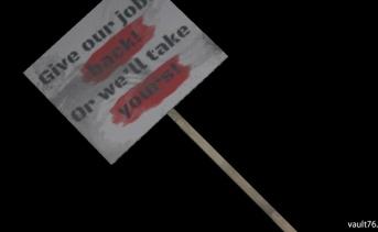 抗議プラカード