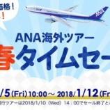 『ANAのビジネスクラスツアーが新春タイムセール中。PP単価10円以下の路線もあるので修行でも使えそう。』の画像