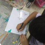 『透明の板に絵を描こう(全クラス)』の画像