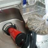『兵庫県尼崎市 台所の排水口の水つまり パイプユニッシュ』の画像