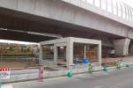第二京阪国道近くでなんか四角いモノが建設中です~高架下。「私部西2北」交差点近く~