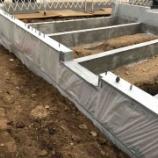 『土間コンクリート打設前の準備作業【着工40日目】』の画像