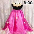 バラ付き子供ドレス 黒×ピンク(3歳)SOLD-OUT