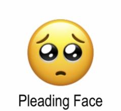 ぴえんを英語で言うと?2020年最も使われている絵文字は?Pleading face emojiとは?