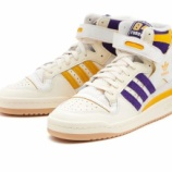 """『10月15日発売 Adidas Originals フォーラム 84 ハイ / FORUM 84 HIGH """"NBA""""  Lakers GX9054』の画像"""