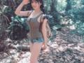【画像】 女さん、ジャングルに薄着で来てしまうwwwww