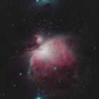 『銀河の昇る前にオリオン大星雲(M42&M43)』の画像