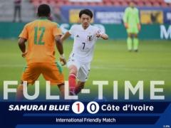 サッカー日本代表、カメルーンとコートジボワールを相手に無失点で1勝1分!!!
