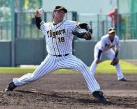 阪神・馬場 155キロのストレートと14種類の変化球を操り制球力も抜群