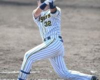 【阪神】井上 パ最多勝左腕の宮城撃ち!同い年の意地で2点三塁打、10戦連続安打!