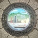 『兵庫県神戸市のマンホール。六甲山やポートタワーが描かれてました。』の画像