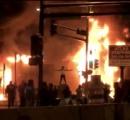 【悲報】アメリカ、暴動により街が戦争後みたいになる