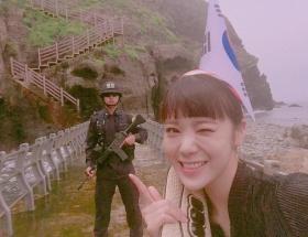 竹島に不法上陸した韓国のアイドルwwwwwwwwww