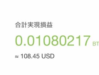 ビットコインFXの利益が1万円を突破しました。6勝1敗!