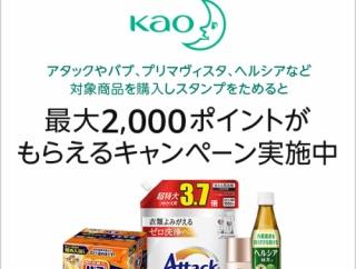 【Amazon】アタック、バブなど花王の対象商品購入で最大2000ポイントプレゼント!(12/31まで)