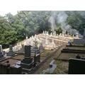 太然寺墓地の清掃