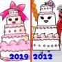 beforeafter★2012年→2019年の絵を比較!「ケーキ」