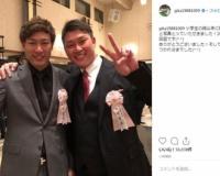 福岡在住のカープファン柳田悠岐さん(30)、憧れの新井と2ショット