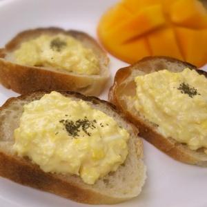 お手軽に作れて優雅な朝食♪オープン卵サンド