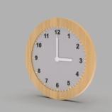 『初心者向けモデリング練習 No.4 時計』の画像
