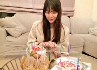 白間美瑠の誕生日ケーキの数www