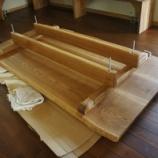 『タモのテーブル納品』の画像