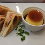 『カフェモロゾフでランチ「トーストサンドウィッチとデザートのプレートセット」@モロゾフ センター街ショップ』の画像